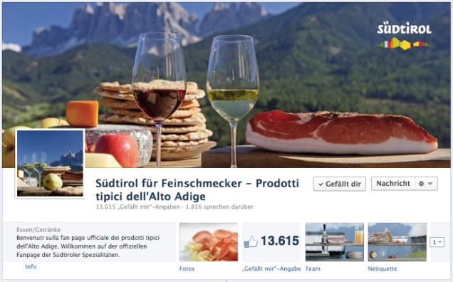 Conzepta, Facebook, Prodotti tipici dell'Alto Adige, EOS, Export Organisation Südtirol, Service Facebook, social networt, agenzia per Facebook, Bolzano